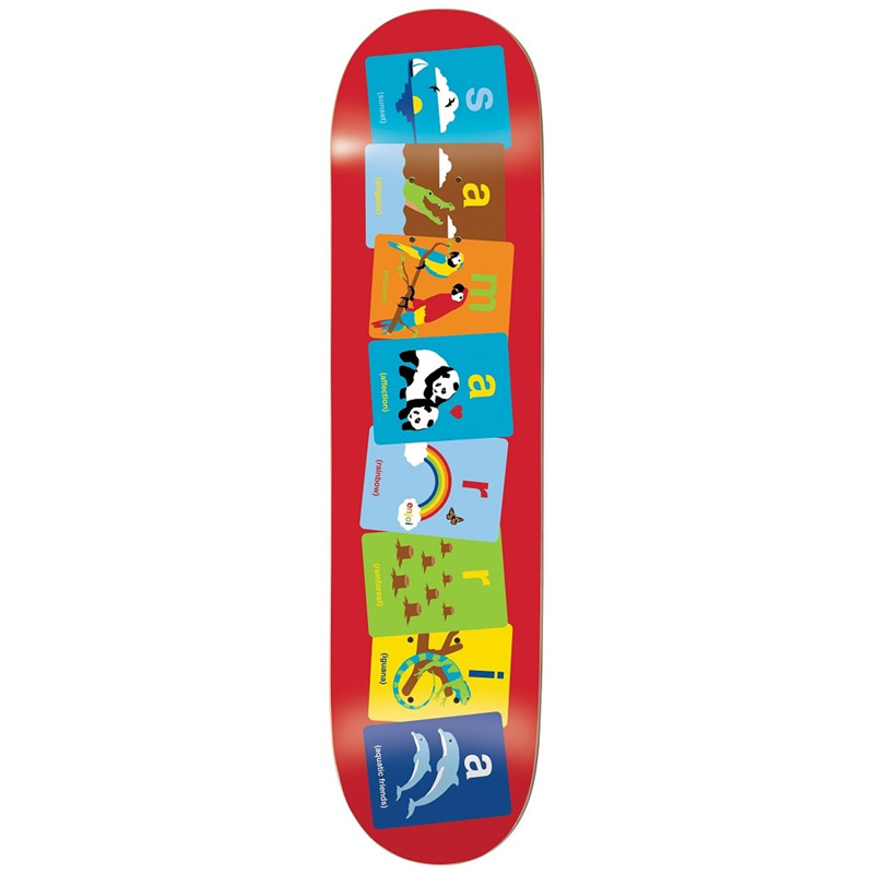 Enjoi Samarria Flashcards R7 Skateboard Deck 8.0