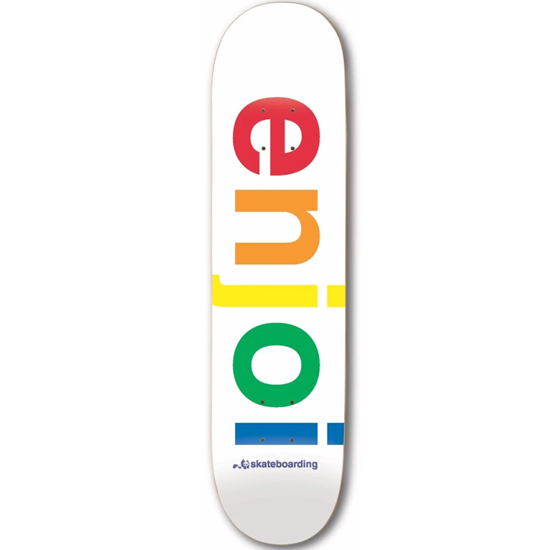 Enjoi Spectrum R7 Skateboard Deck White 9.0