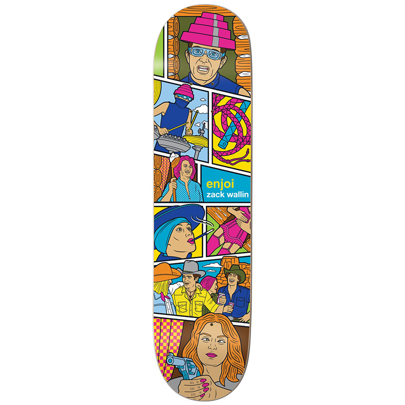 Enjoi Wallin Veejay R7 Skateboard Deck 8.25