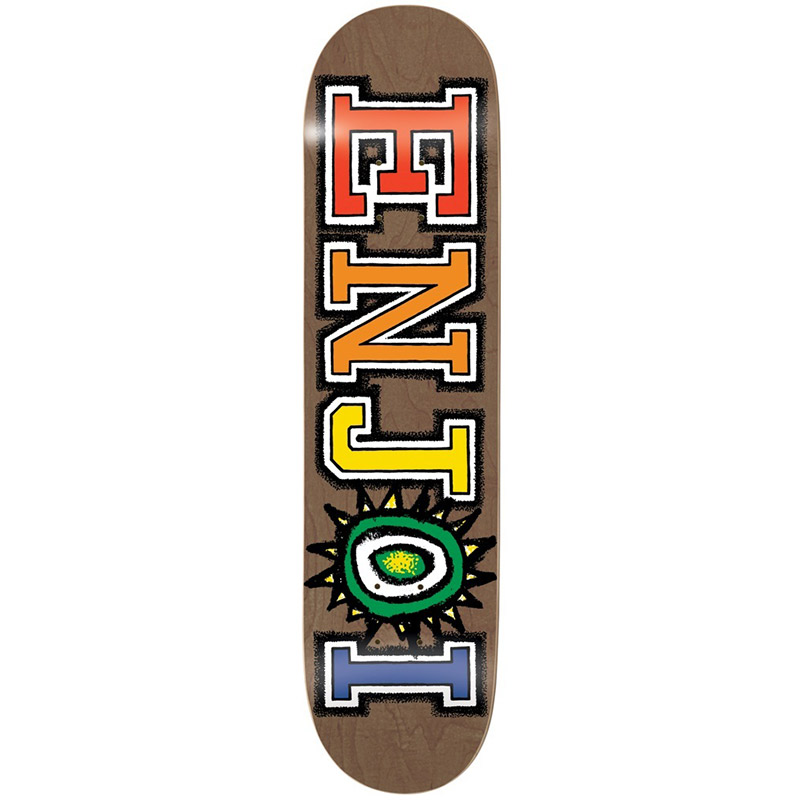 Enjoi What's The Deal R7 Skateboard DeckBrown 8.375