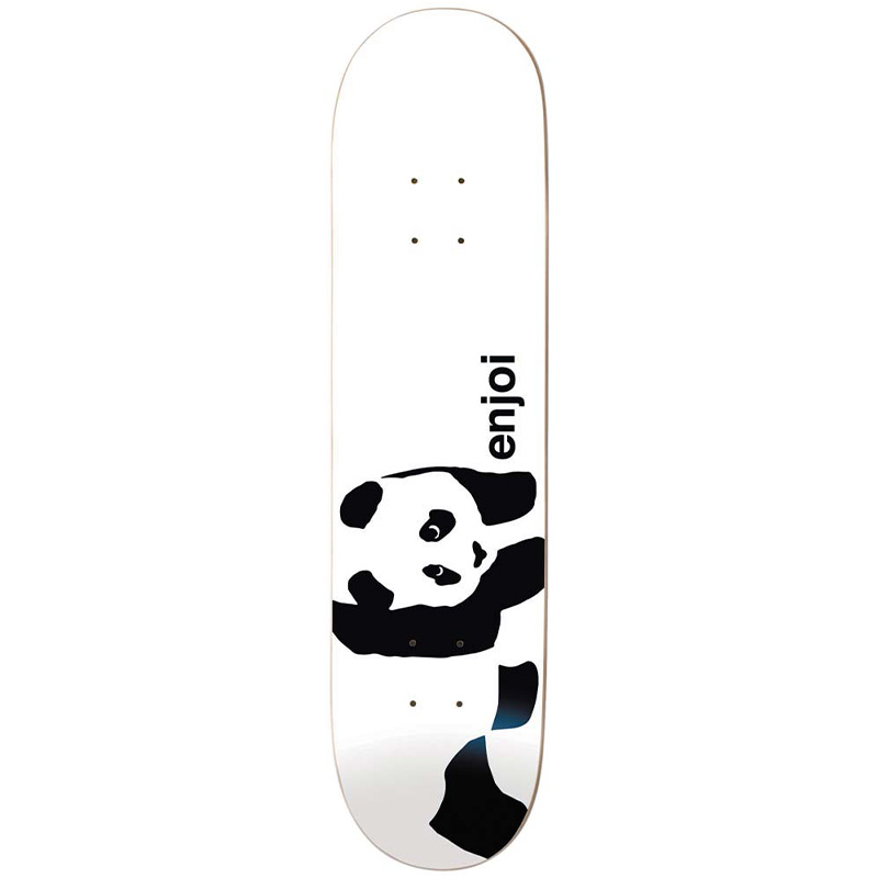 Enjoi Whitey Panda Logo R7 Skateboard Deck White 7.75
