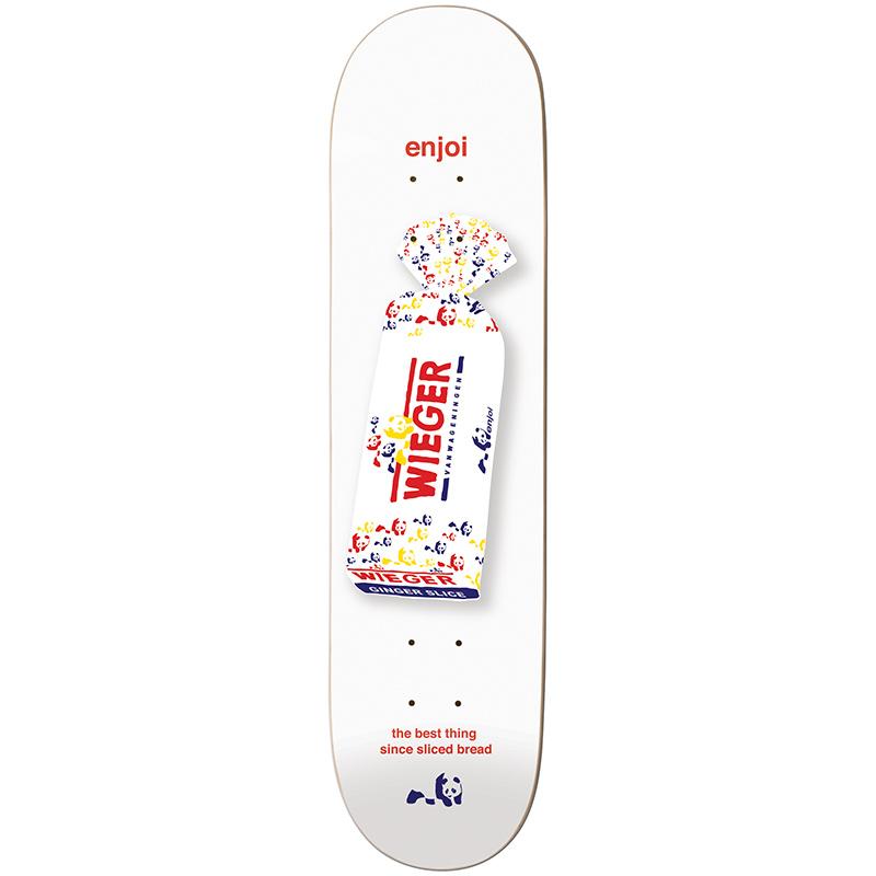 enjoi Wieger White Bread R7 Skateboard Deck 8.375