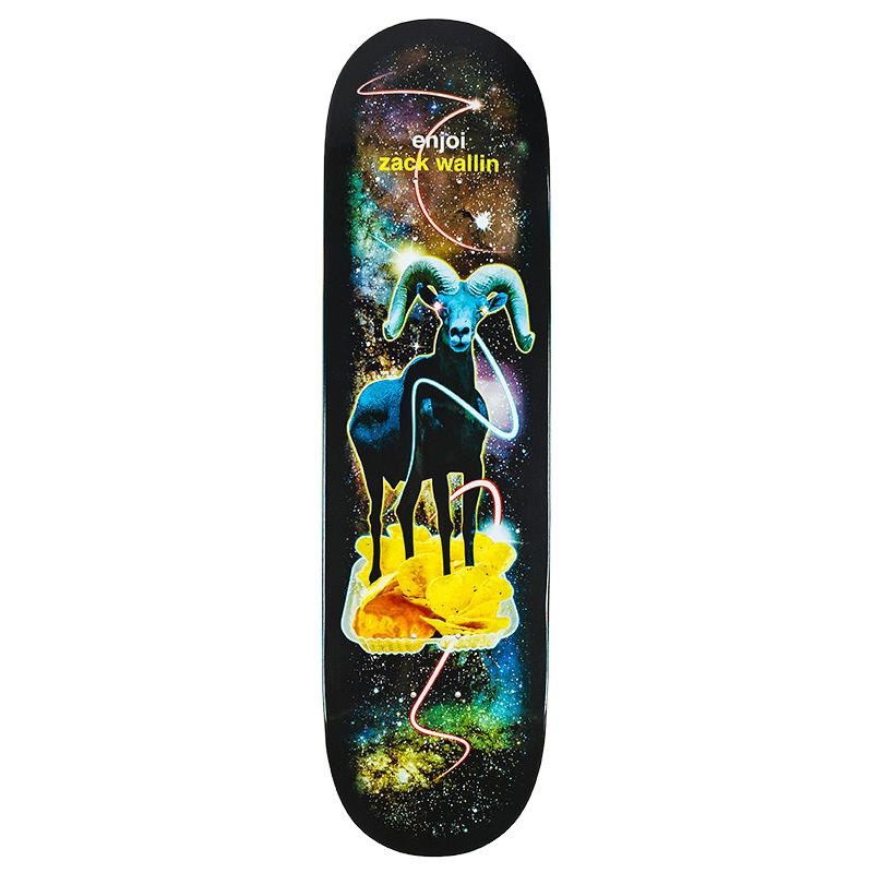 Enjoi Zach Wallin Ramnachos Snack Surfers Skateboard Deck 8.5