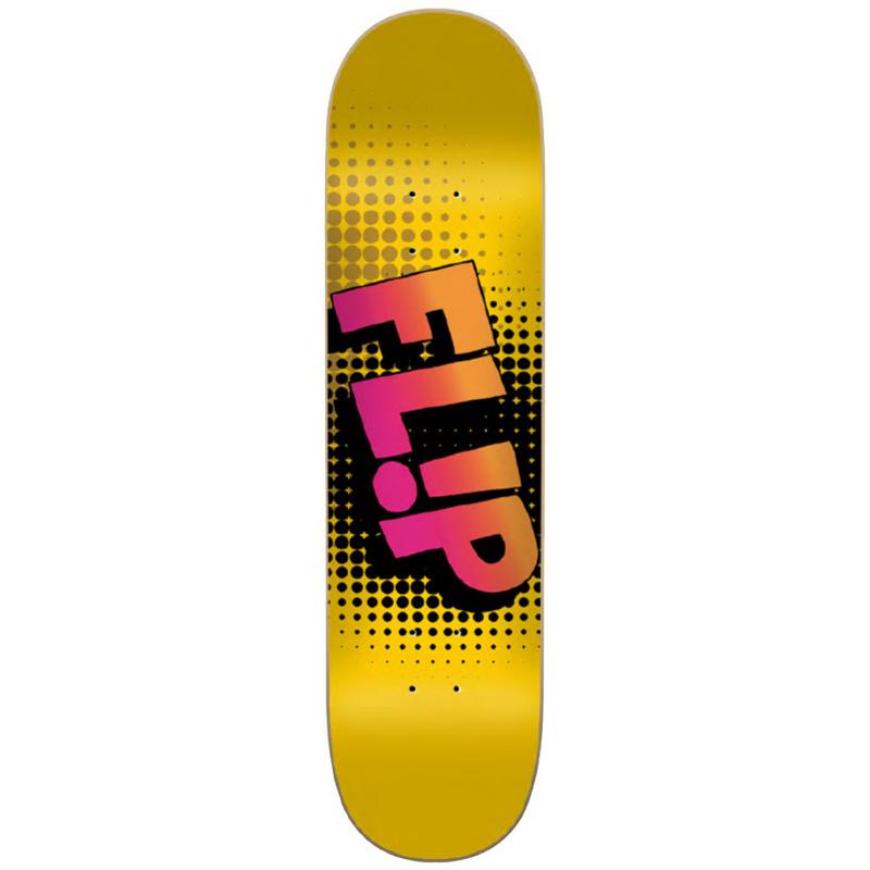 Flip Bang Skateboard Deck Yellow 8.13