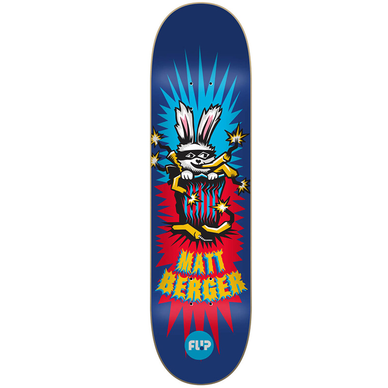 Flip Berger Tin Toys Skateboard Deck 8.25