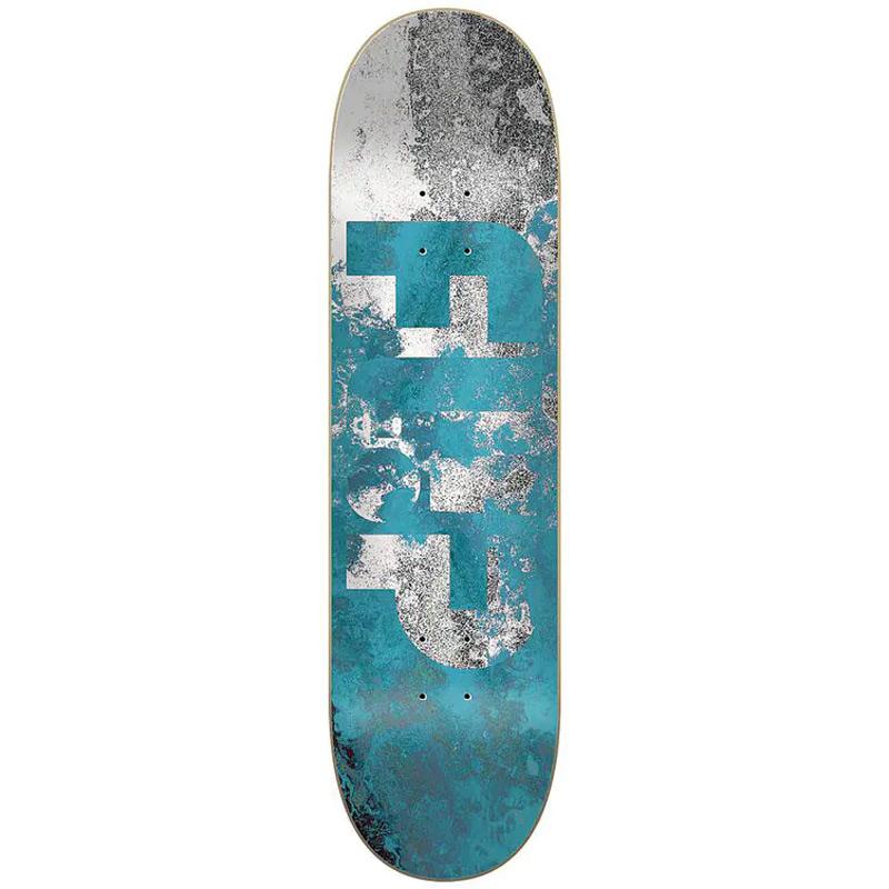 Flip Distortion Skateboard Deck Blue 8.38