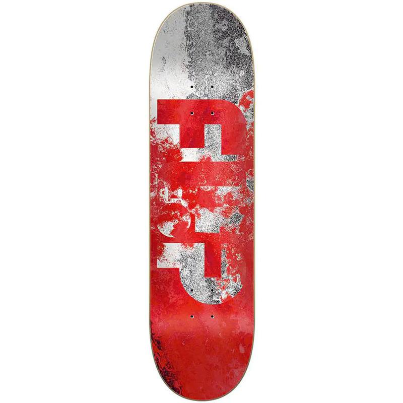 Flip Distortion Skateboard Deck Red 8.0