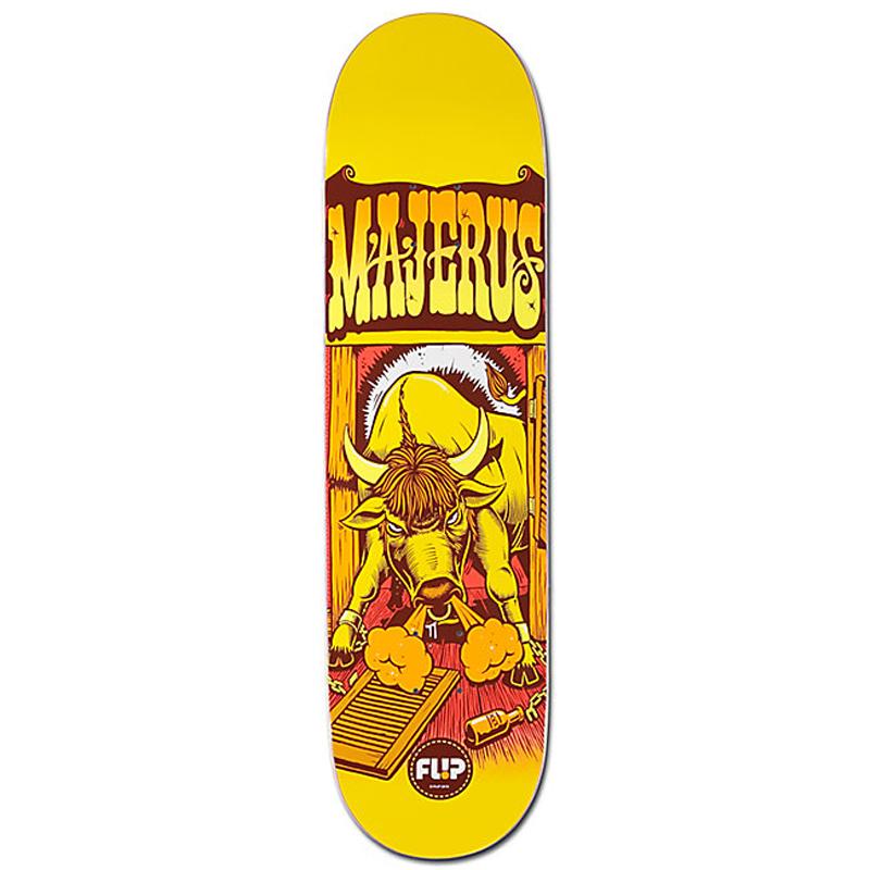 Flip Majerus Comix Skateboard Deck 8.25