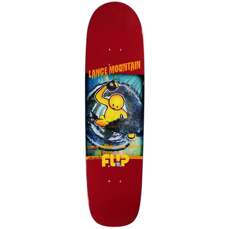 Flip Mountain Doughboy Skateboard Deck Burgundy 8.75