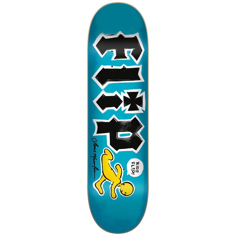 Flip Mountain Doughboy Stencil Skateboard Deck 8.25