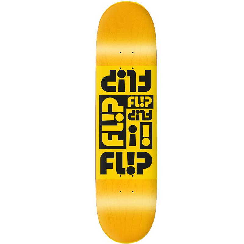 Flip Multi Odyssey Skateboard Deck Yellow 8.0