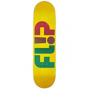 Flip Odyssey Faded  Skateboard Deck Yellow 8.0