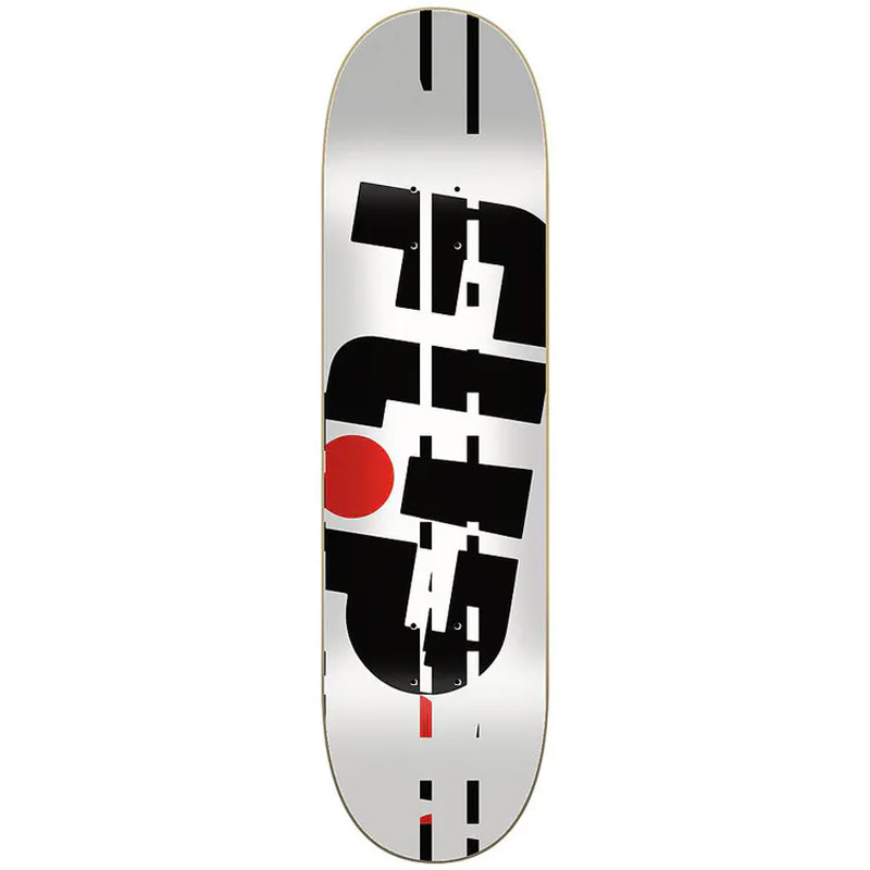 Flip Odyssey Glitch Skateboard Deck White 8.13