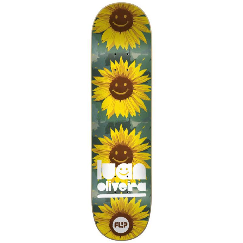 Flip Oliveira Flower Power Skateboard Deck 8.0