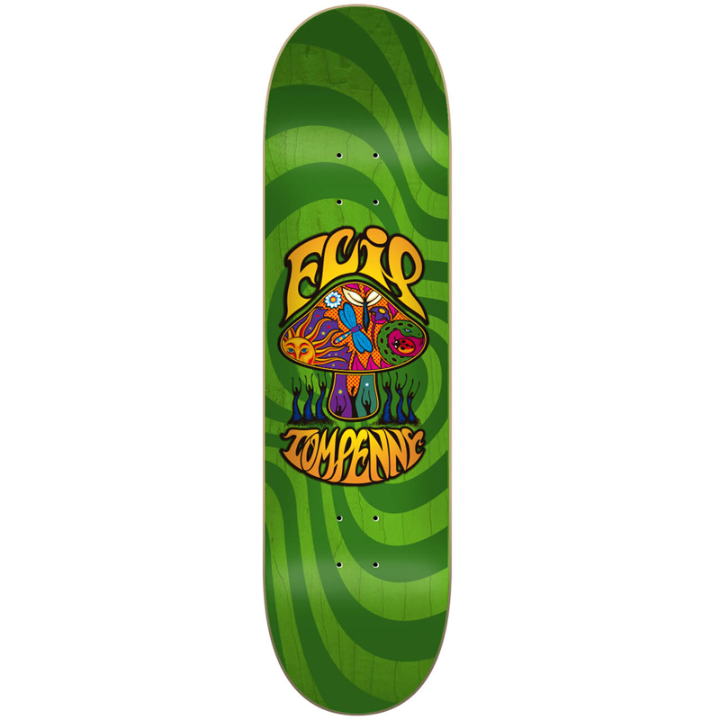 Flip Penny Loveshroom Skateboard Deck Stained Green 8.25