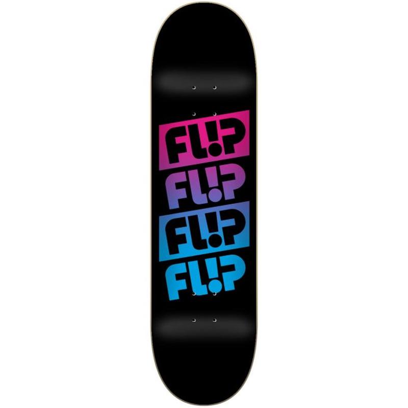 Flip Quatro Faded Skateboard Deck Black 8.0