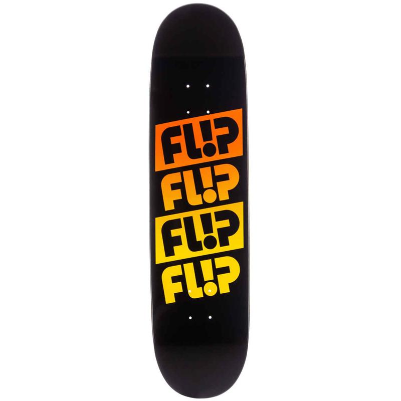 Flip Quatro Faded Skateboard Deck Black 8.25