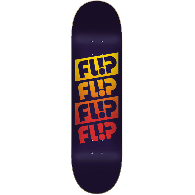 Flip Quatro Faded Skateboard Deck Royal Blue 8.13
