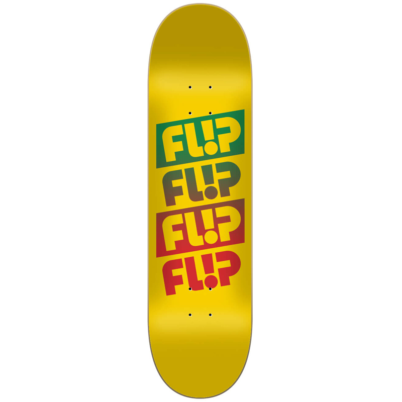 Flip Quatro Faded Skateboard Deck Yellow 8.0