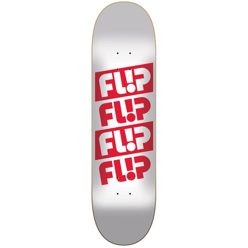 Flip Quattro Odyssey Skateboard Deck White 8.25