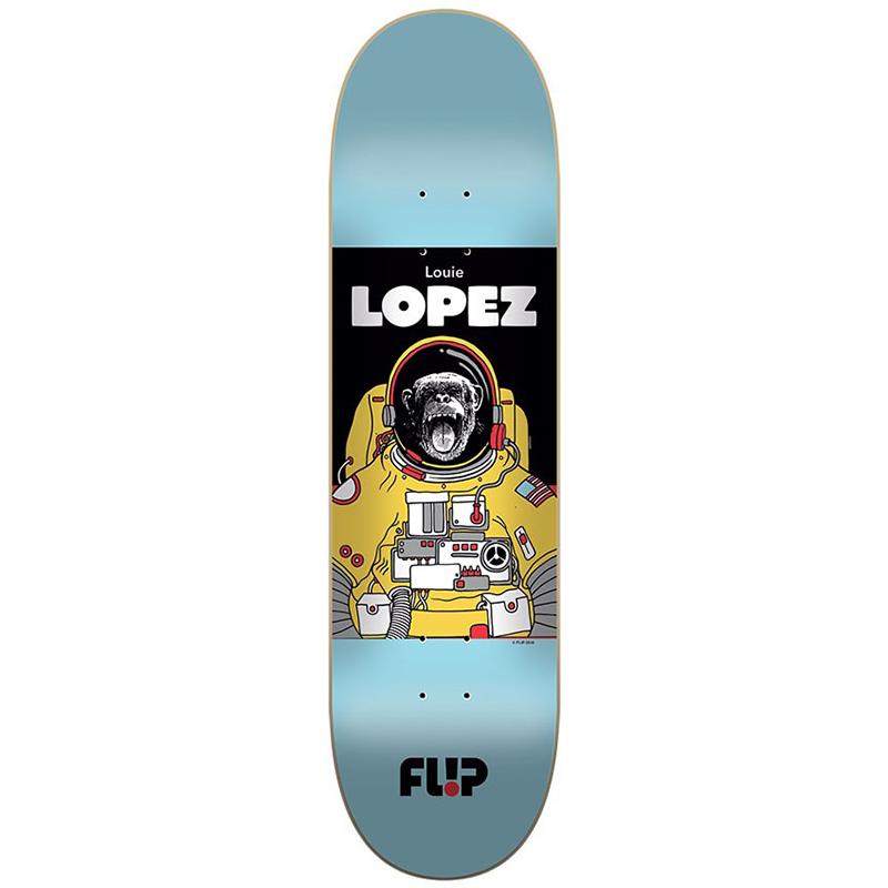 Flip Space Monkey Louie Lopez Skateboard Deck 8.25