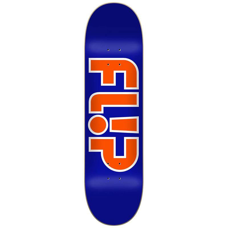 Flip Team Outlined Skateboard Deck Blue 8.25