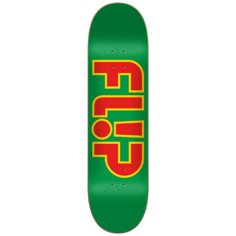 Flip Team Outlined Skateboard Deck Green 8.25