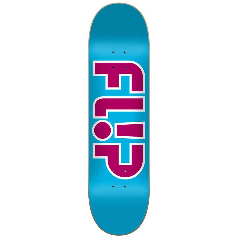 Flip Team Outlined Skateboard Deck Light Blue 8.13