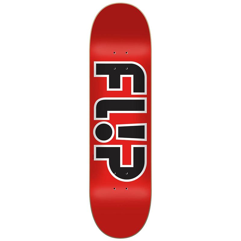 Flip Team Outlined Skateboard Deck Red 8.0