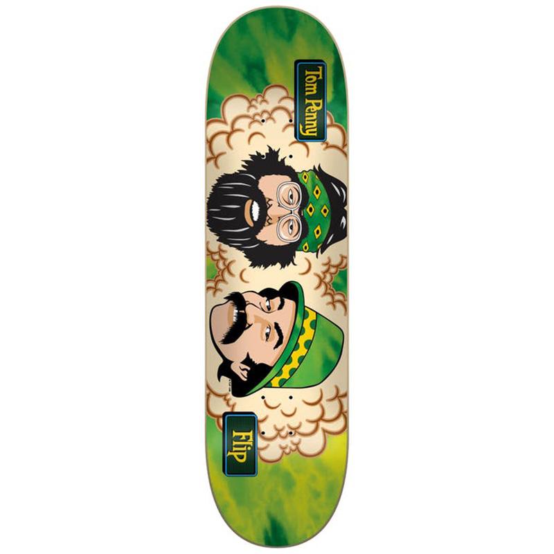 Flip Toms Friends Room Skateboard Deck Green 8.25