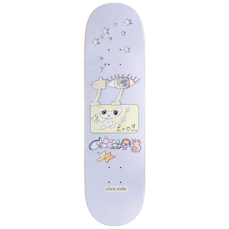 Frog Chris Milic Designs Skateboard Deck 8.6