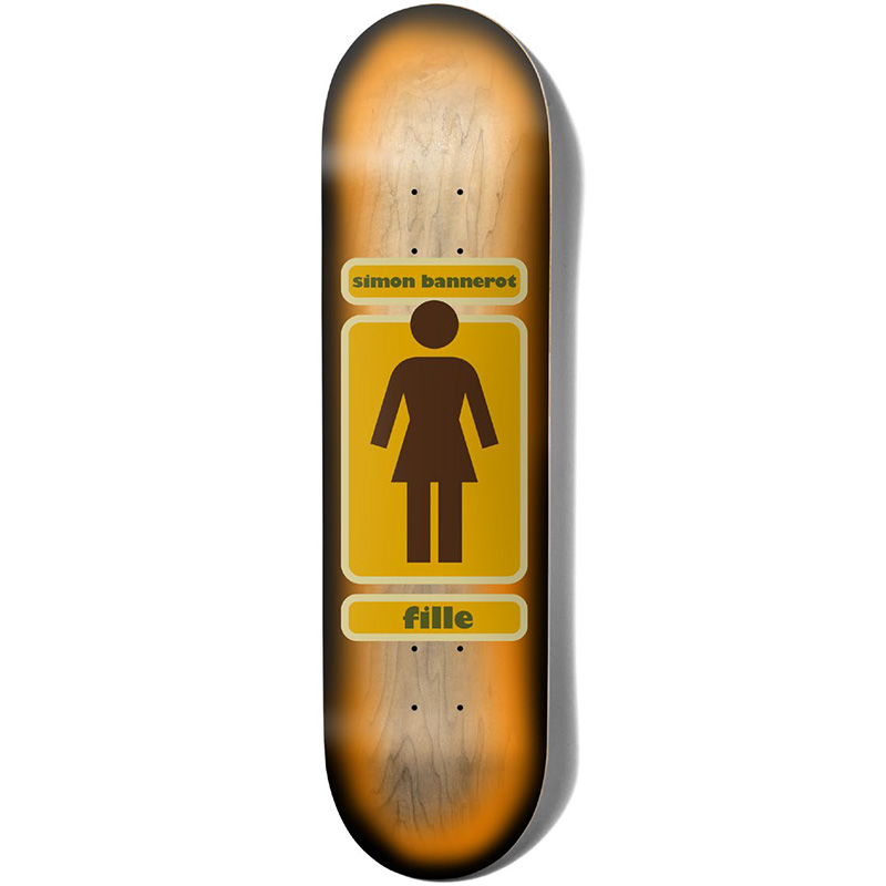 Girl 93 Til Simon Bannerot Skateboard Deck Orange Fade 8.25