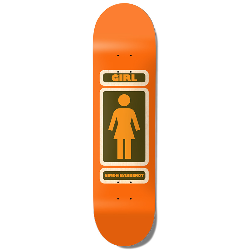 Girl Bannerot 93 Til Infinity Skateboard Deck Orange 8.25