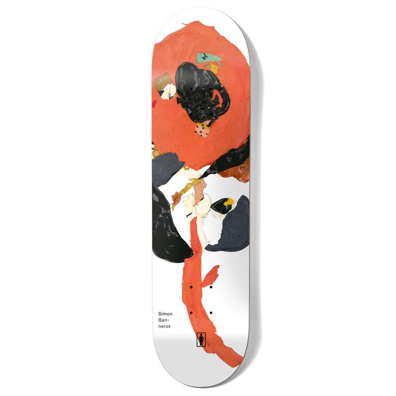 Girl Bannerot Blooming Skateboard Deck White 8.25