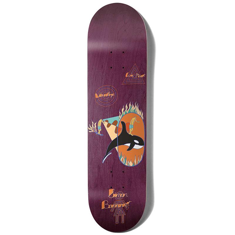 Girl Bannerot Visualize Purple Skateboard Deck 8.25