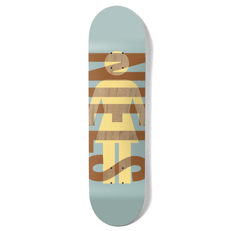 Girl Bennett OG Knockout Skateboard Deck Mist 8.25