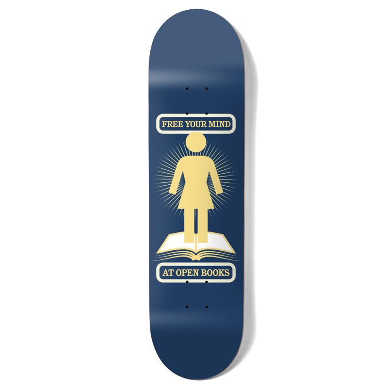 Girl Bennett Open Books One Off Skateboard Deck 8.0