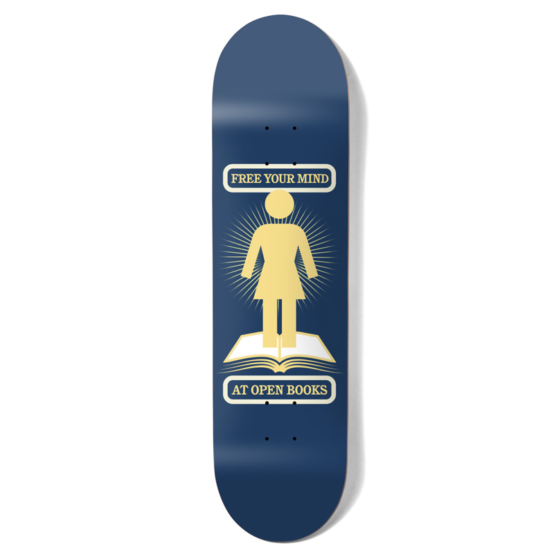 Girl Bennett Open Books One Off Skateboard Deck 8.25