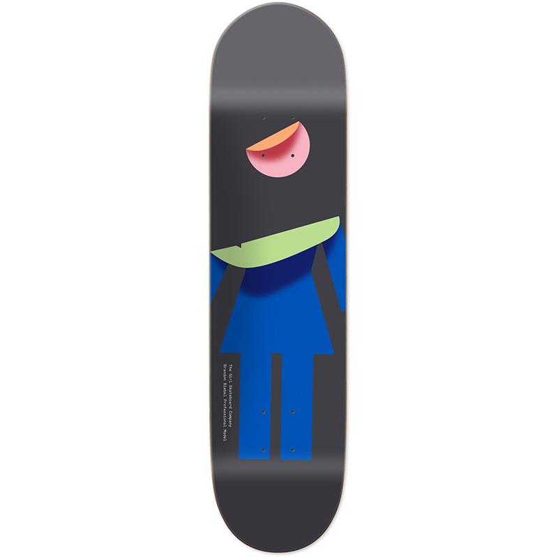 Girl Biebel Folded OG Skateboard Deck 8.0