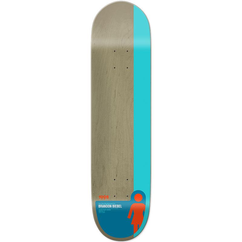 Girl Biebel Tail Block Skateboard Deck 8.0