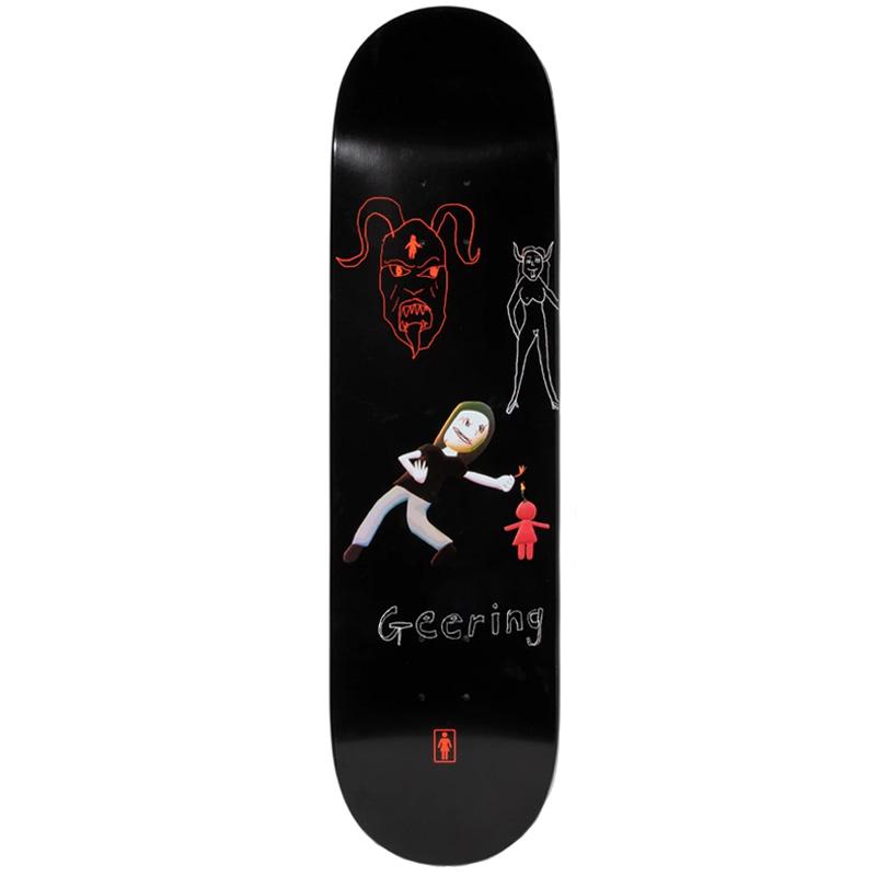 Girl Breana Geering One Off Skateboard Deck Black 8.0