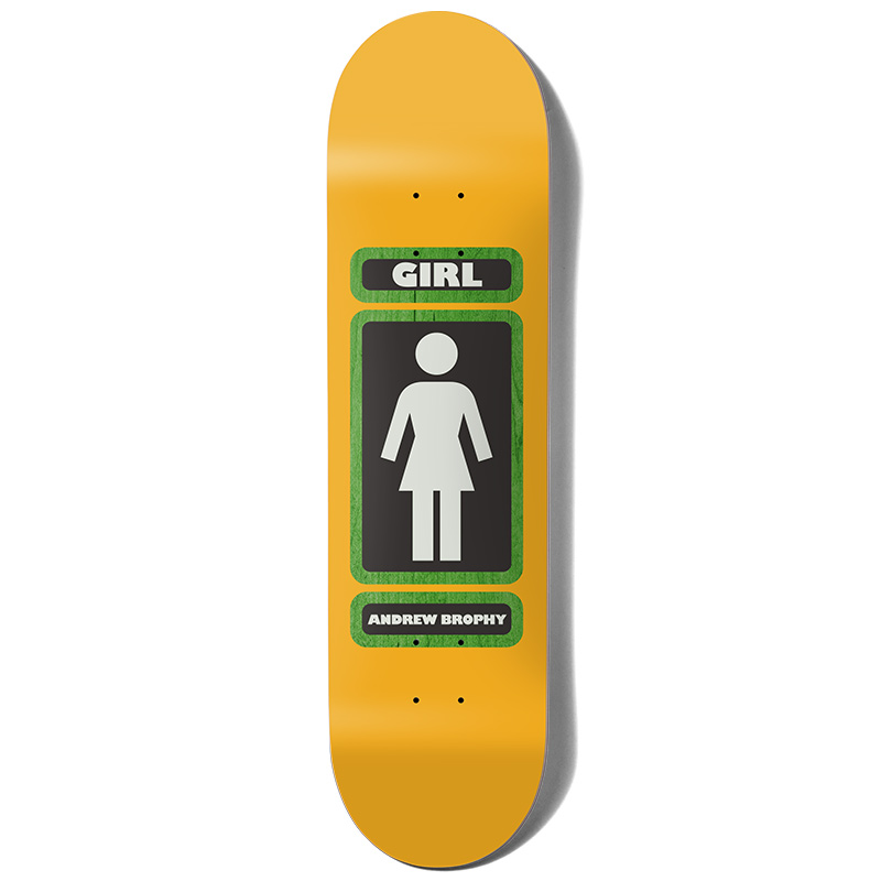 Girl Brophy 93 Til Infinity Skateboard Deck Yellow 8.125