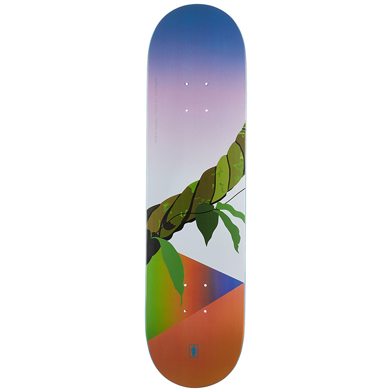 Girl Brophy Psychedelic Plants Skateboard Deck 8.125