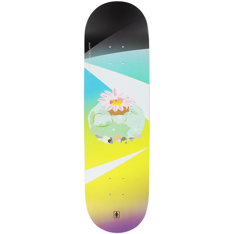 Girl Carroll Psychedelic Plants Skateboard Deck 8.375