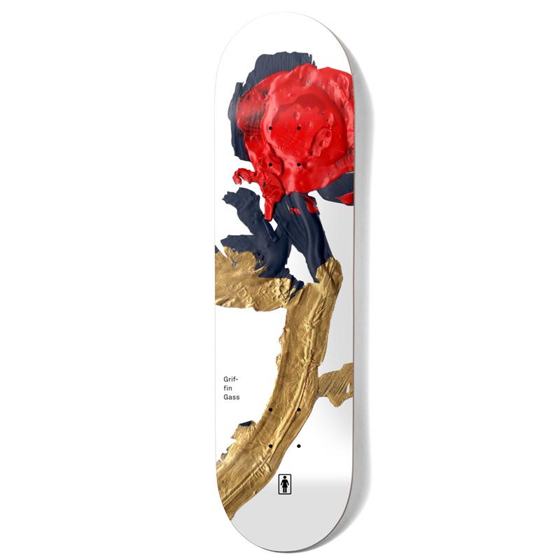 Girl Gass Blooming Skateboard Deck White 8.25