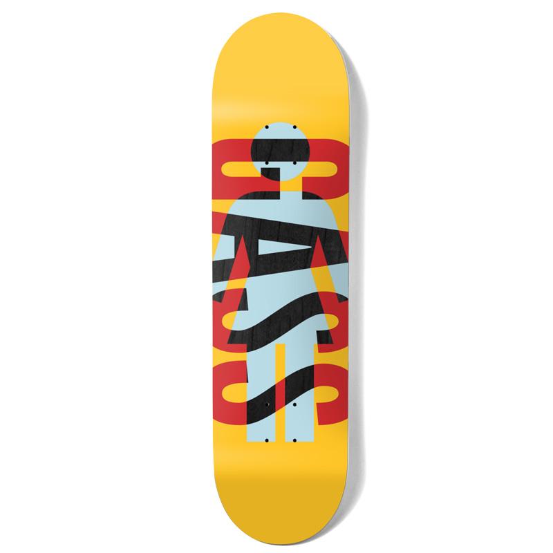 Girl Gass OG Knockout Skateboard Deck Yellow 8.0