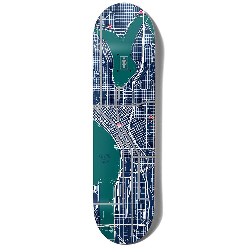 Girl Gass Pin Point One Off Skateboard Deck 8.25