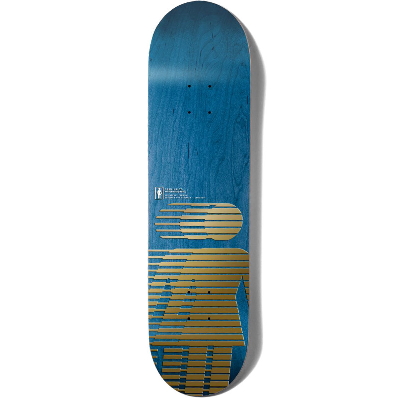 Girl Hero Sean Malto Pop Secret Skateboard Deck Metallic Gold 8.25