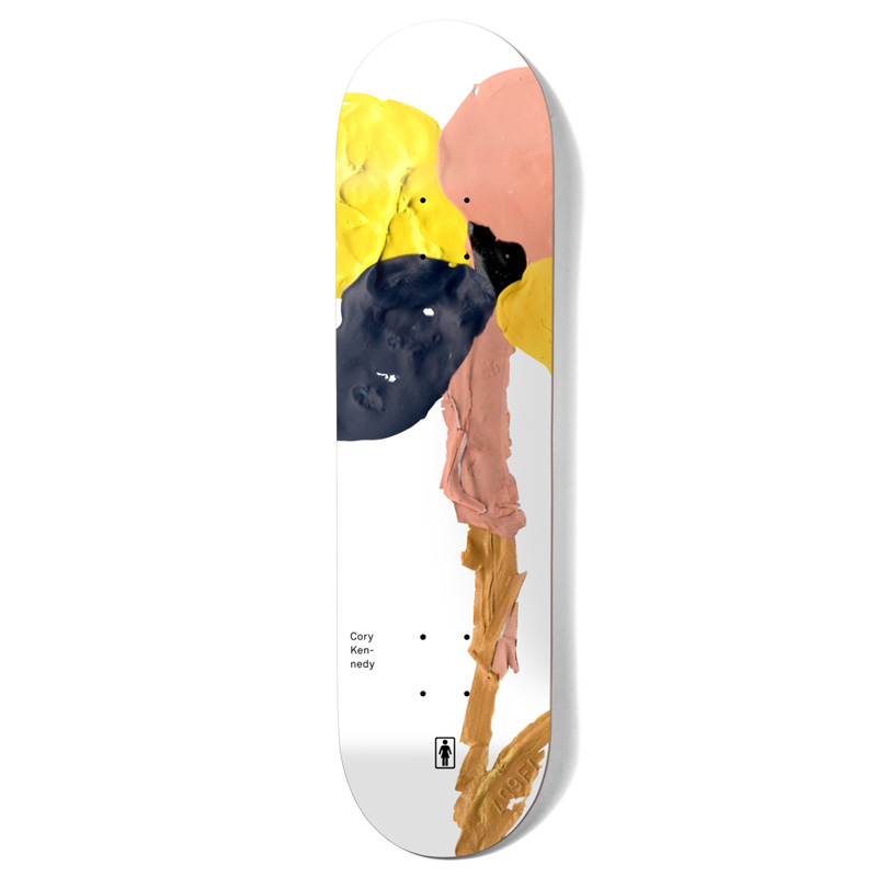 Girl Kennedy Blooming Skateboard Deck White 8.5