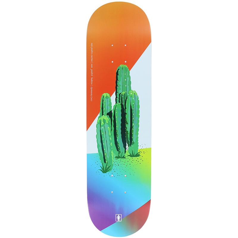 Girl Kennedy Psychedelic Plants Skateboard Deck 8.25